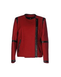 Plein Sud Jeanius Coats And Jackets Jackets Women Brick Red