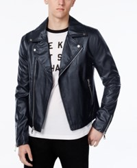 Wht Space Men's Motorcycle Jacket Only At Macy's Navy