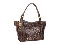 Frye Deborah Shoulder Chocolate Glazed Vintage Leather Shoulder Handbags Bronze