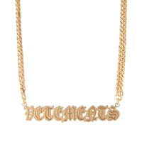 Vetements Gothic Logo Necklace Gold