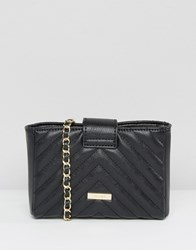 Aldo Mini Quilted Cross Body Bag With Pearl Detail Black With Gold
