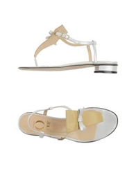O Jour Thong Sandals White