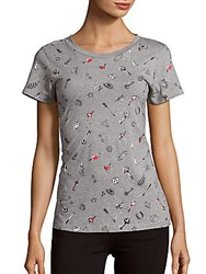 French Connection Roundneck Cotton Top Grey
