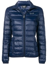 Emporio Armani Ea7 Fitted Puffer Jacket Blue