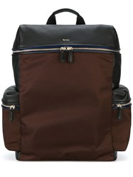 Paul Smith Jeans Side Pockets Structured Backpack Brown