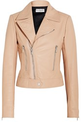 Balenciaga Leather Biker Jacket Blush