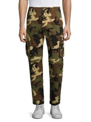 Wesc Wallace Camo Cargo Pants Burnt Olive