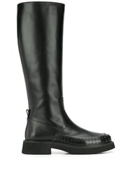 Tod's Gommino Embellished Knee Height Boots Black