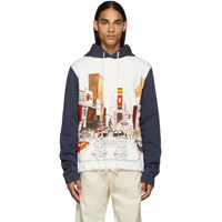 Lanvin White And Navy Babar Ny Hoodie