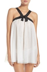 Kate Spade Women's New York Babydoll Chemise And Panty Off White