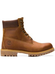 Timberland Heritage Lace Up Boots Brown