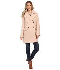 Vince Camuto Cacoon Wool Peacoat J8441 Smoky Blush Women's Coat Beige