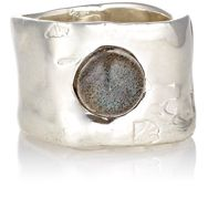 Ali Grace Women's Labradorite Cabochon Wide Band Ring Colorless