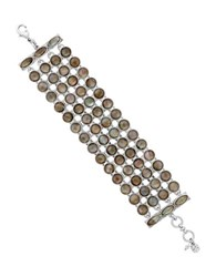 Lucky Brand Mother Of Pearl Semi Precious Rock Crystal And Epoxy Stone Bracelet White