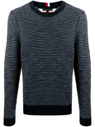 Tommy Hilfiger Embroidered Long Sleeve Sweater Blue
