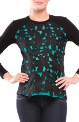 Olian Women's Floral Maternity Top Teal