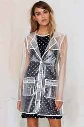 Nasty Gal All Clear Plastic Rain Coat