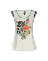 Tricot Chic Tank Tops White