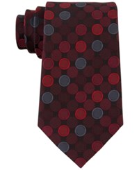 Geoffrey Beene Men's Seasonless Dot Tie Red