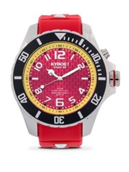 Kyboe Stainless Steel Maryland Terrapins Strap Watch Red
