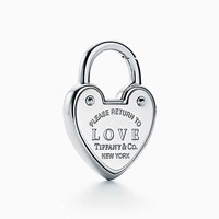 Tiffany And Co. Return To Tiffanytm Love Lock Charm In Sterling Silver.