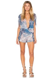 Bcbgeneration Mosaic Print Wrap Romper Red