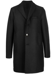 Harris Wharf London Midi Single Breasted Coat Black