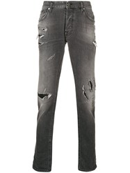 Just Cavalli Distressed Slim Fit Jeans Grey