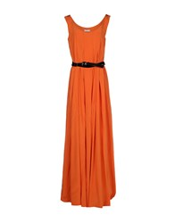 Cnc Costume National Long Dresses Orange
