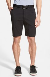 Men's Bobby Jones Stretch Cotton Flat Front Shorts Black