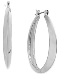 Alfani Silver Tone Polished Oval Hoop Earrings