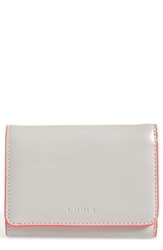 Lodis 'Audrey Mallory' Leather French Wallet Gray Coral Grc