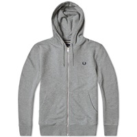 Fred Perry Loopback Hooded Sweat Steel Marl