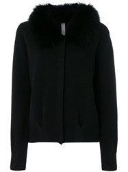 Philo Sofie Fur Collar Cardigan Women Cashmere 40 Black