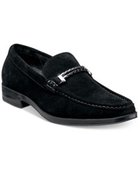 Stacy Adams Men's Nesbit Moc Toe Braided Strap Loafers Men's Shoes Black