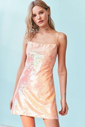 Kimchi And Blue Sand Dollar Sequin Square Neck Dress Peach