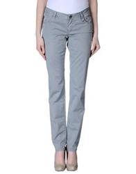 Siviglia White Casual Pants Dark Blue