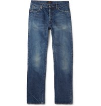Chimala Slim Fit Distressed Selvedge Denim Jeans Indigo