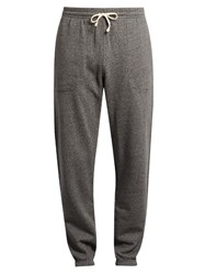Maison Kitsune Logo Patch Applique Cotton Track Pants Grey