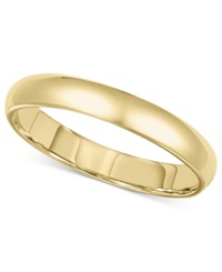 Macy's 14K Gold Ring 3Mm Comfort Fit Wedding Band