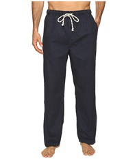 Kenneth Cole Reaction Micro Dot Print Woven Pants Navy Men's Pajama