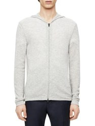 Theory Aires Kamero Sd Cashmere Hoodie Foam Heather Light Night