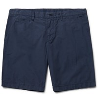 Burberry Cotton Poplin Chino Shorts Indigo