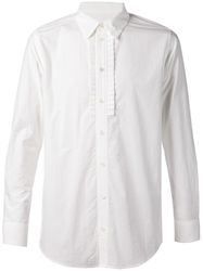 Julien David Pleated Detail Shirt White