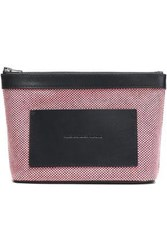 Alexander Wang Leather Trimmed Woven Cosmetics Case Pink