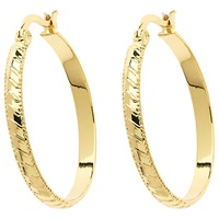 Monet Stripe Hoop Earrings Gold