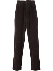 Romeo Gigli Vintage Corduroy Trousers Brown
