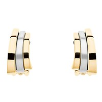 Finesse Two Tone Arc Clip On Earrings Gold Silver