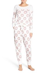 Honeydew Intimates Fleece Pajamas Orange