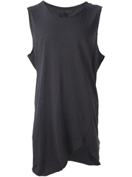 Thom Krom Long Asymmetric Vest Black